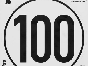 Tempo 100 sticker Duitsland